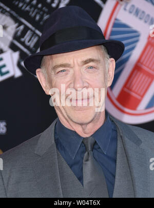 June 26, 2019 - Hollywood, California, U.S. - 26 June 2019 - Hollywood, California - J.K. Simmons. ''Spider-Man: Far From Home'' Los Angeles Premiere held at the TCL Chinese Theater. Photo Credit: Birdie Thompson/AdMedia (Credit Image: © Birdie Thompson/AdMedia via ZUMA Wire) - Stock Photo