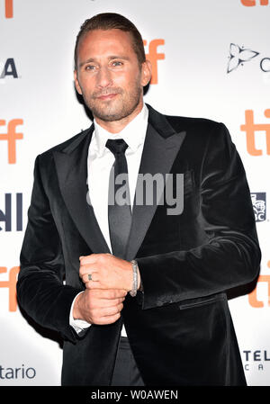 Matthias Schoenaerts arrives for the premiere of 'Kursk' at the Princess of Wales Theatre on opening night of the 43rd Toronto International Film Festival in Toronto, Canada on September 6, 2018. Photo by Christine Chew/UPI - Stock Photo