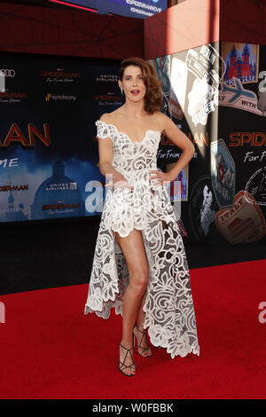 June 26, 2019 - Los Angeles, CA, USA - LOS ANGELES - JUN 26:  Cobie Smulders at the ''Spider-Man Far From Home'' Premiere at the TCL Chinese Theater IMAX on June 26, 2019 in Los Angeles, CA (Credit Image: © Kay Blake/ZUMA Wire) - Stock Photo