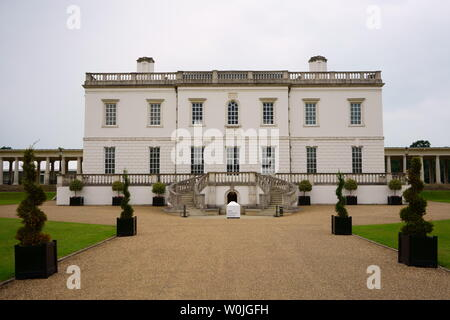 Queen's House in Greenwich, London, United Kingdom. Former royal residence, now part of the National Maritime Museum. - Stock Photo