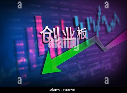 Financial stock market data chart - Stock Photo