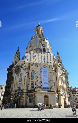 Dresden Saxony / Germany - 09 17 2018: Dresden is a city in Saxony Germany - Stock Photo