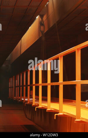 Crane - factory interior image - Stock Photo