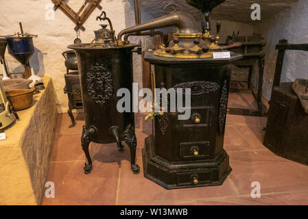 HEIDELBERG, GERMANY - JUNE 16, 2019: The German Apothecary Museum inside Heidelberg Palace offers insights into the history of pharmaceutics, from ant - Stock Photo