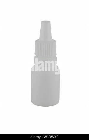 Nasal drops isolated on white background - Stock Photo