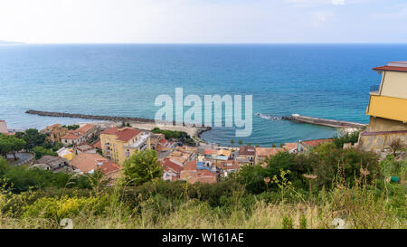 View of Calabrian coast in Pizzo town, Italy - Stock Photo