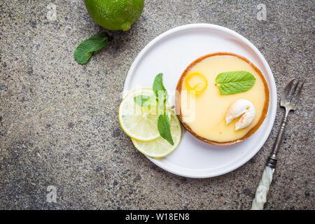 Key lime tarts - Stock Photo