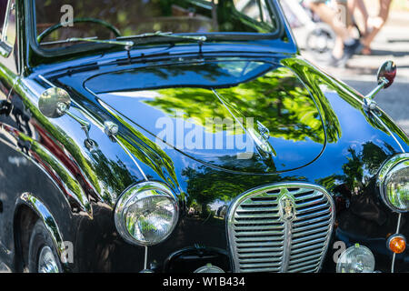 Bedford, Bedfordshire, UK. June 2, 2019.Fragment of The Austin A30, a small family car produced by Austin from May 1952 to September 1956 - Stock Photo