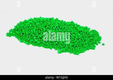Colourful Plastic Granules. Plastic pellets. Colorant for plastics. Pigment in the granules. - Stock Photo