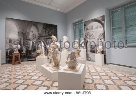 carmi, carrara and michelangelo museum, villa fabbricotti in padula, carrara, tuscany, italy - Stock Photo