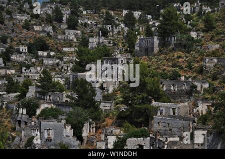 The Ghost village of Kayakoy, Mugla, Turkey. - Stock Photo
