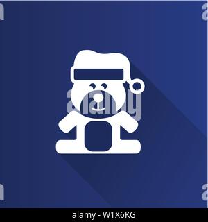 Teddy bear icon in Metro user interface color style. Christmas celebration gift - Stock Photo