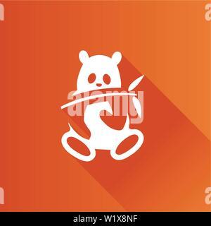 Panda icon in Metro user interface color style. Mammal china zoo - Stock Photo