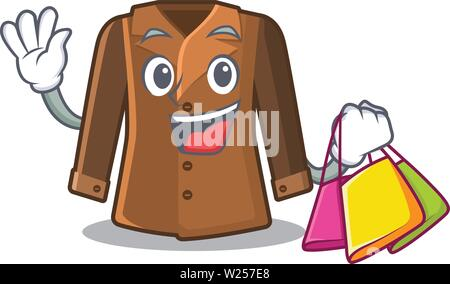 Shopping coat isolated with in the mascot - Stock Photo