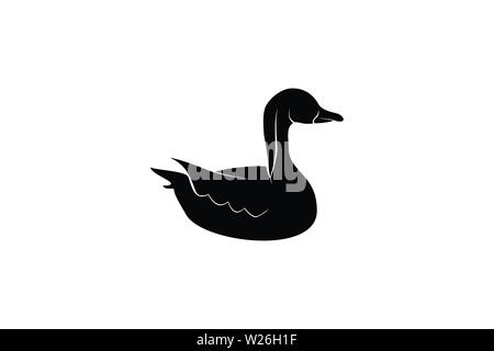Swan Logo Designs Inspiration Isolated on White Background - Stock Photo