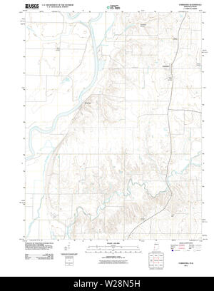 USGS TOPO Map Indiana IN Fairbanks 20111012 TM Restoration - Stock Photo