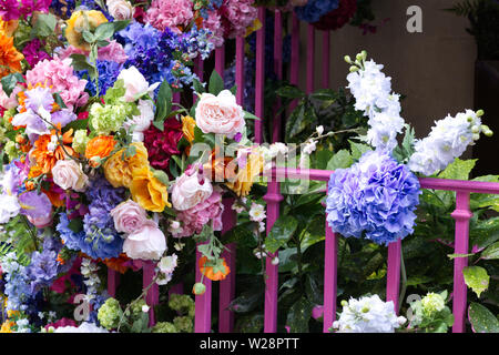 Under the sea flower floral design kings road Chelsea London - Stock Photo