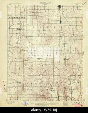 USGS TOPO Map Indiana IN Haubstadt 160496 1903 62500 Restoration - Stock Photo