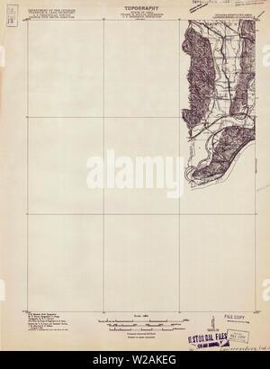 USGS TOPO Map Indiana IN Lawrenceburg 160502 1915 48000 Restoration - Stock Photo