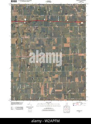 USGS TOPO Map Indiana IN Lewisville 20100528 TM Restoration - Stock Photo