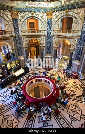 Cafe and Restaurant in Museum of Art History, Vienna, Austria, Central Europe - Stock Photo