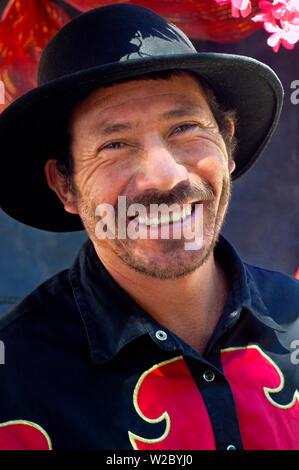 Juayua, El Salvador, Horse- Drawn Carriage Driver For Tourists, Route Of Flowers, Ruta De Las Flores, Popular Tourist Town, Department Of Sonsonate - Stock Photo