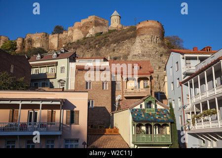 Georgia, Tbilisi, Narikala Fortress above Old town - Stock Photo