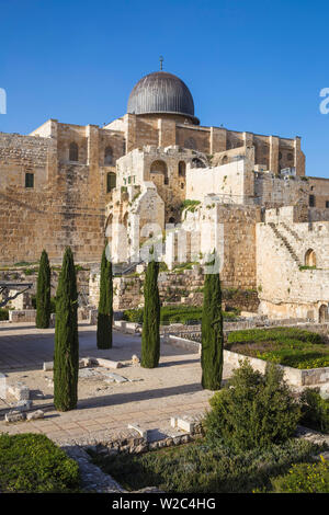 Israel, Jerusalem, Jerusalem Archeological Park and Davidson Center, - Stock Photo