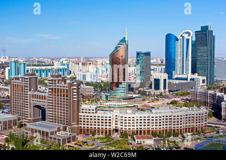 Central Asia, Kazakhstan, Astana, the city center and central business district - Stock Photo