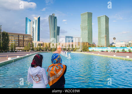 Central Asia, Kazakhstan, Astana, archtecture in the city center - Stock Photo