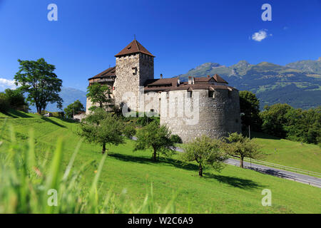 Liechtenstein, Vaduz, Vaduz Castle (Schloss Vaduz) - Stock Photo