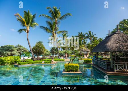 La Pirogue resort, Flic-en-Flac, Rivière Noire (Black River), West Coast,  Mauritius - Stock Photo