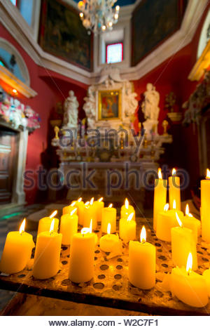 Montenegro, Bay of Kotor, Perast, Our Lady of the Rocks Island, Church of Our Lady of the Rocks - Stock Photo