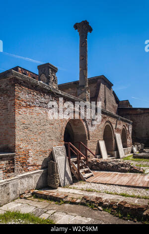 Romania, Bucharest, Lipscani Old Town, Old Princely Court, exterior - Stock Photo
