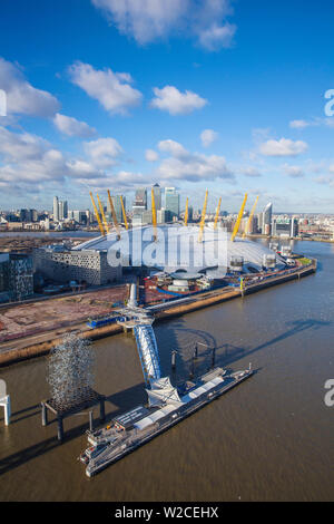 UK, England, London, View from the Emirates Air Line - or Thames cable car - Stock Photo