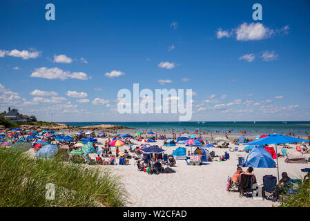 USA, Massachusetts, Cape Ann, Gloucester, Wingaersheek Beach - Stock Photo