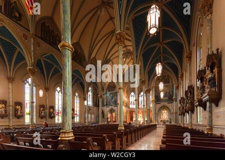 USA, Georgia, Savannah, Cathedral of St. John the Baptist - Stock Photo