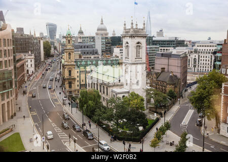 St Andrew Holborn The largest Anglican parish church designed by Christopher Wren now also a striking events venue. - Stock Photo