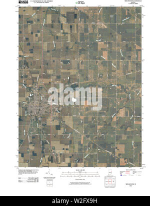USGS TOPO Map Indiana IN Winchester 20100525 TM Restoration - Stock Photo
