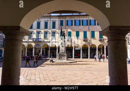 Italy, Lombardy, Varese, Piazza del Podestà - Stock Photo