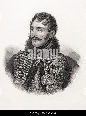 Antoine Charles Louis de Lasalle. Antoine-Charles-Louis, Comte de Lasalle (10 May 1775, Metz-6 July 1809, Wagram) was a French cavalry general during - Stock Photo