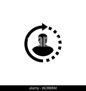Support Icon In Flat Style Vector For Apps, UI, Websites. Black Icon Vector Illustration. - Stock Photo