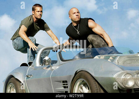 FAST FIVE 2011 Universal Pictures film with Vin Diesel at right and Paul Walker - Stock Photo