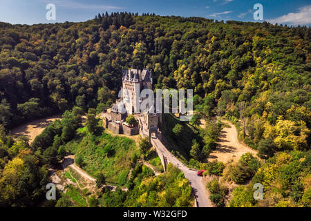 Burg Eltz - one of the most beautiful castles of Europe. Germany - Stock Photo