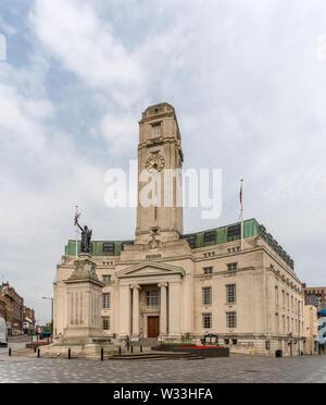 Luton Town Hall, Luton, Bedfordshire, England - Stock Photo