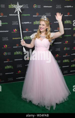 Sydney, Australia. 12th July 2019. Jack and the Beanstalk Giant 3D musical spectacular red carpet at the State Theatre. Pictured: Lucy Durack. Credit: Richard Milnes/Alamy Live News - Stock Photo
