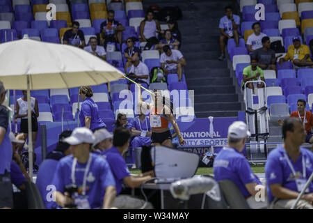 Naples, CAMPANIA, ITALY. 12th July, 2019. Naples Universiade Athletics.At the San Paolo di Napoli the athletics competitions for the 2019 Universiade took place Credit: Fabio Sasso/ZUMA Wire/Alamy Live News - Stock Photo