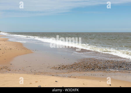 The Norfolk Coast at Caister on Sea - Stock Photo