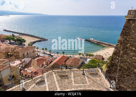 Aerial view of picturesque Pizzo town, Calabria, Italy - Stock Photo