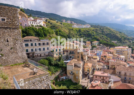 View of rooftops in Pizzo town, Calabria, Italy - Stock Photo